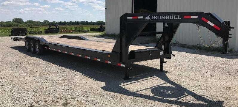 2017 Iron Bull 102 X 40  Equipment Trailer DRIVE OVER FENDERS