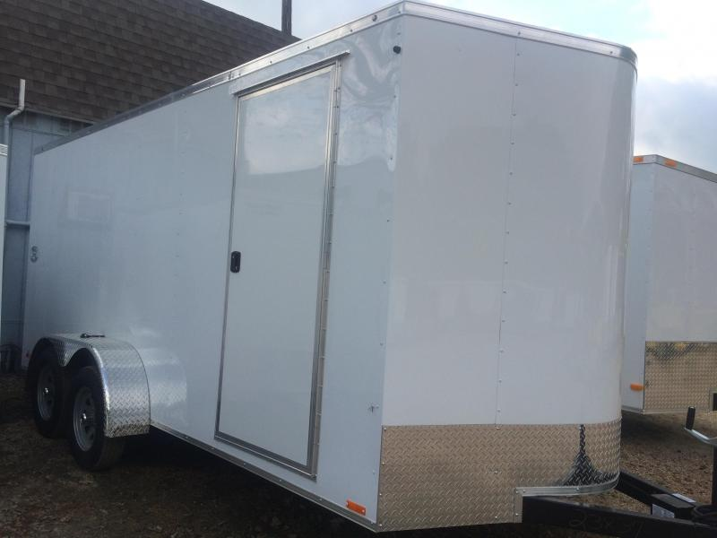 2015 7x16 Continental Cargo V nose RAMP Cargo / Enclosed Trailer
