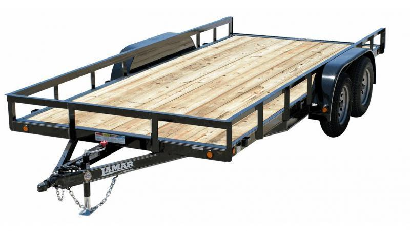 2019 83X20 5200 lb axles  Lamar Trailers CHANNEL FRAME Flatbed Trailer