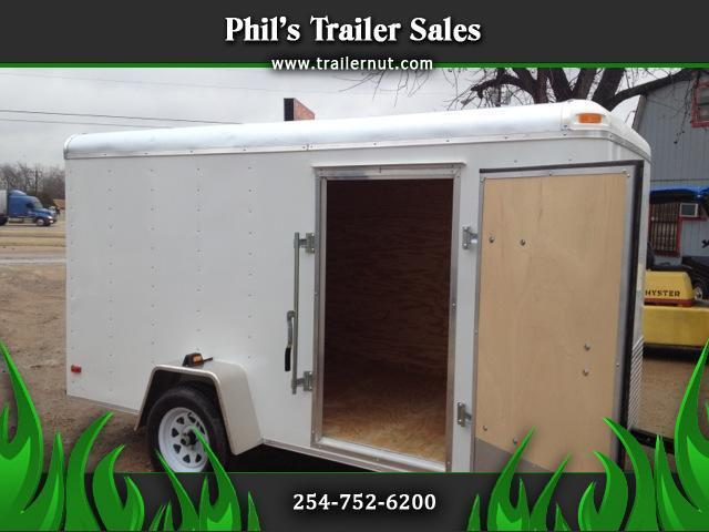 2015 Lark Cargo Trailer 6x12 ramp door side door Plywood walls