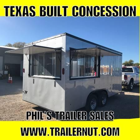 2018 Texas Select 8X16  2 WINDOW CONCESSION Vending / Concession Trailer