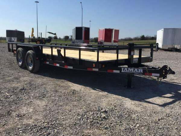 83x20 14k gvwr Pipe Top Lamar POWDER COATED Trailers Equipment trailer Equipment Trailer