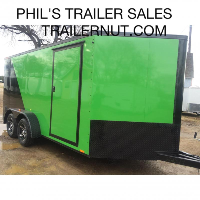 2015 7x14 +3 v Continental Cargo Monster Motorcycle Trailer