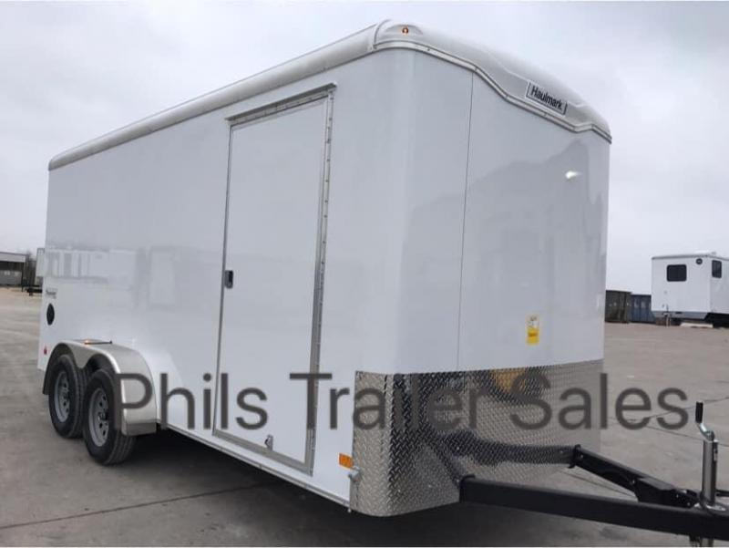 HAULMARK  7X16 + V 7 FT UTV PACKAGE interior COMMERCIAL GRADE TRANSPORT Enclosed Cargo Trailer