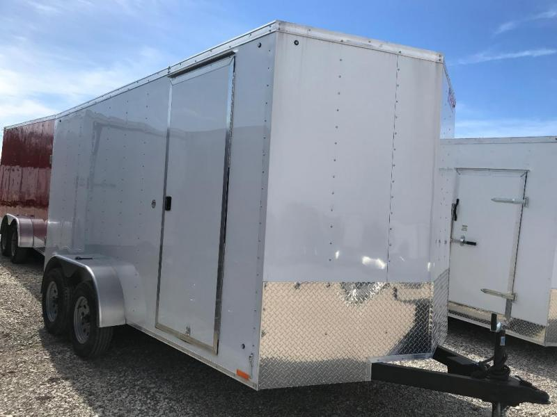 "7X16 + 30"" v NOSE Pace American TRAILER Enclosed Cargo Trailer RAMP"