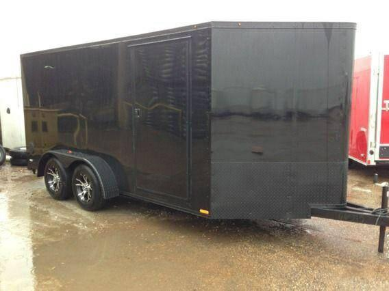 Enclosed Motorcycle Shelter : Blacked out enclosed trailer public shelters ww