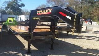 "RENTAL - 2017 Traxx 36 x 102""  Low Pro Gooseneck Flatbed Trailer"