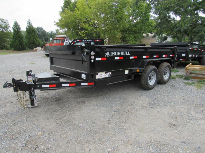 "2019 Iron Bull 83"" x 14' Low Pro Dump Trailer"