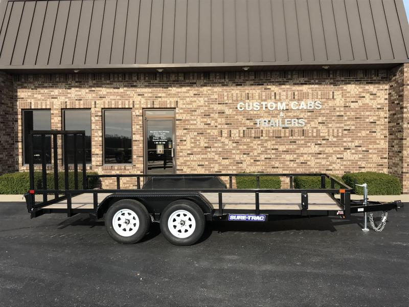 2019 Sure-Trac 7 X 16 7K Tube Top Tandem Flatbed
