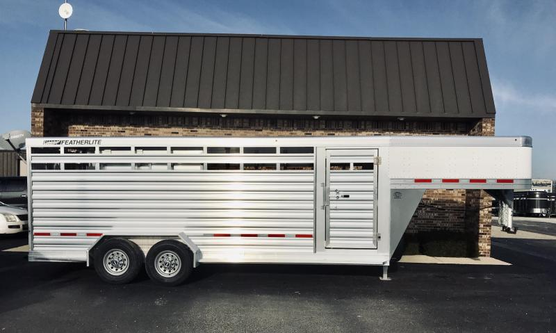 "2020 Featherlite 6'7"" x 20' Stock Trailer"