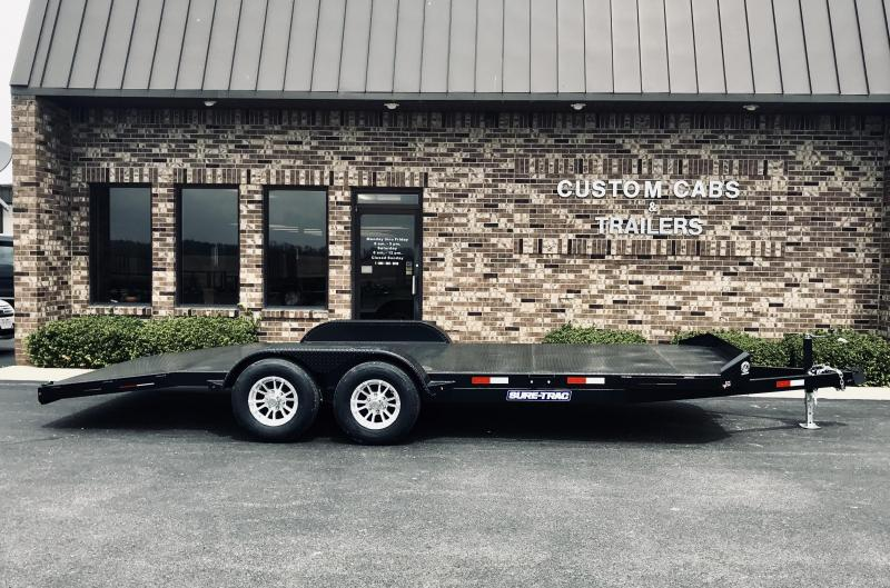 2019 Sure-Trac 7' x 20' 10K  Steel Deck Car Hauler