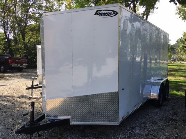 2019 FORMULA  7' X 16' ENCLOSED CARGO TRAILER