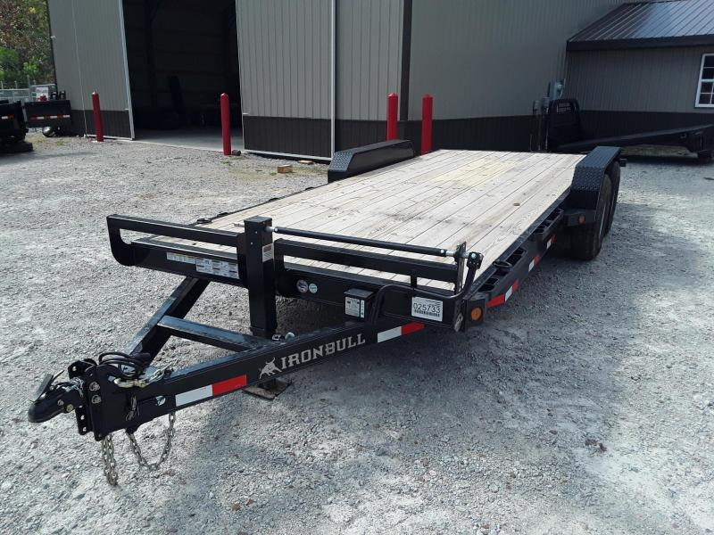 "2018 Iron Bull 83"" X 20' Equipment Trailer W/ 2 7000 LB Axles and Slide in Ramps"