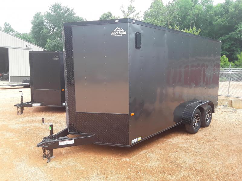 2019 Rock Solid Cargo 7' X 16' Enclosed Cargo Trailer W Black Out Package