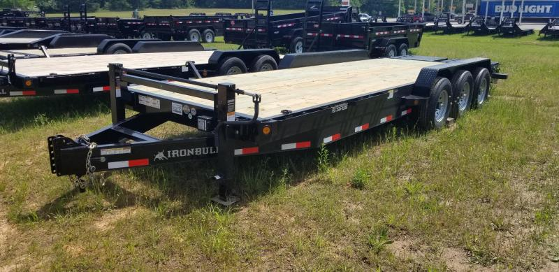 "2019 Iron Bull 83"" X 24' Equipment Trailer W 3 7000 Lb axles and Rampage ramps"