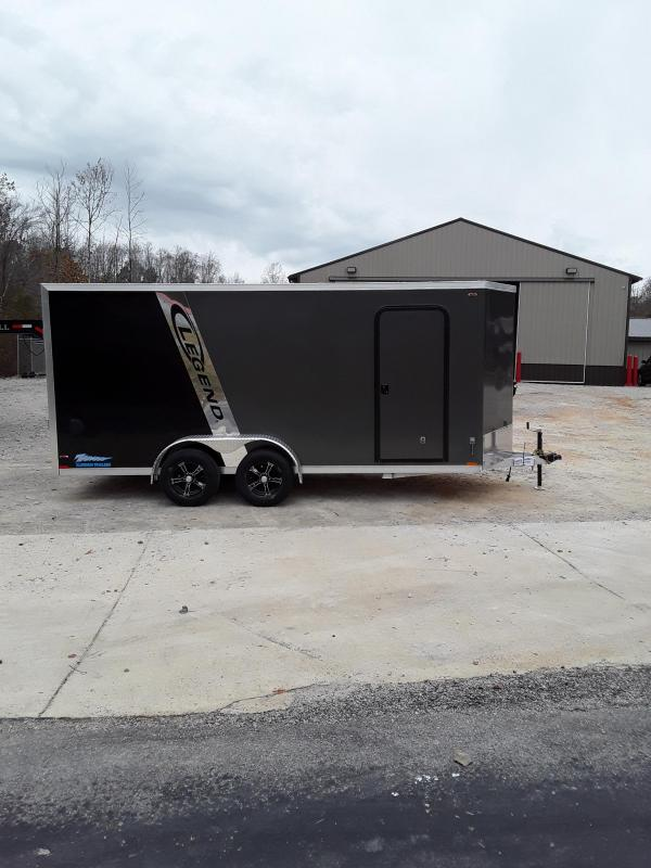 2019 Legend Trailers Thunder V Nose Cargo Enclosed Cargo Trailer 7' X 18' W 2 3500 Lb Axles
