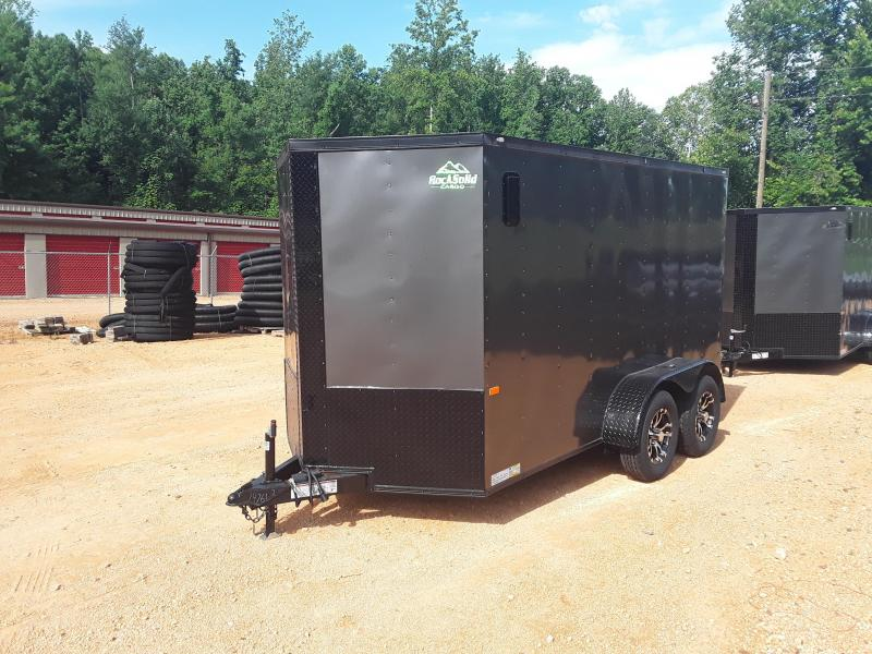 2019 Rock Solid Cargo 7' X 12'  Enclosed Cargo Trailer W Blackout Package