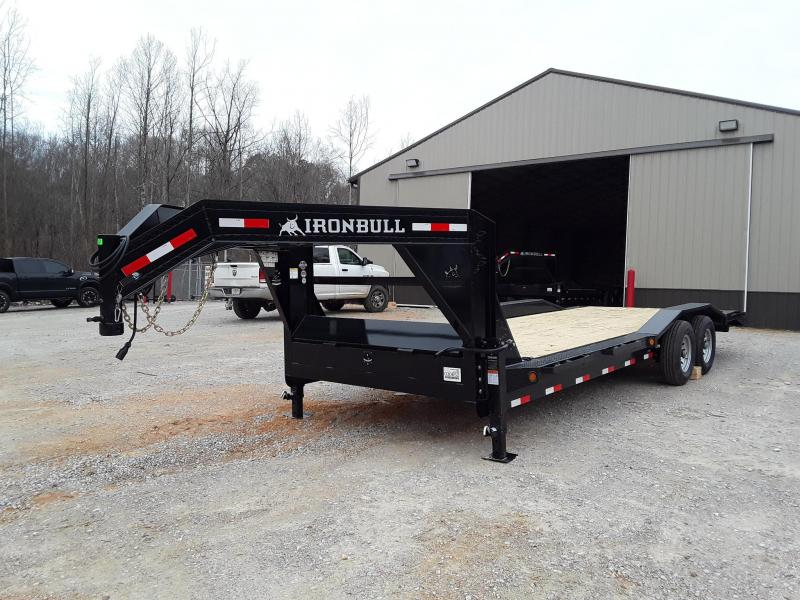 "2019 Iron Bull 8"" Channel Frame 102"" X 24' Flatbed Trailer With 2 7000 Lb Axles"