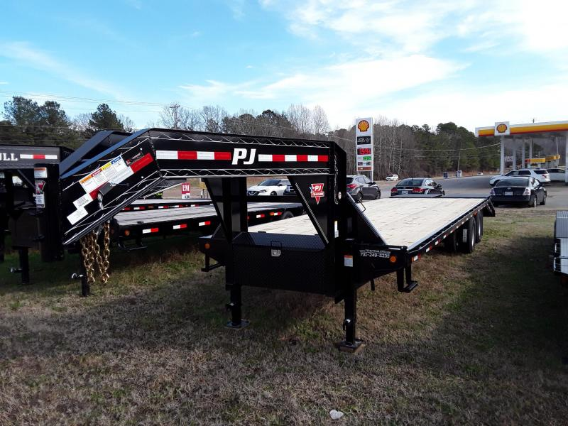 "2019 PJ Trailers 102"" X 30' Flat bed w/ 2 10k Axles"