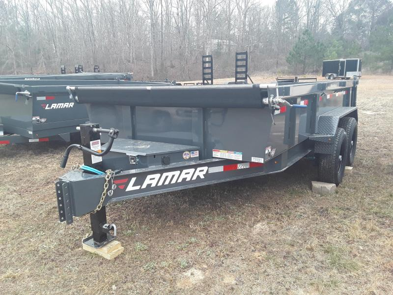"2019 Lamar Trailers  83"" X 14' Low Pro Dump Trailer W/2 7 k Axles"