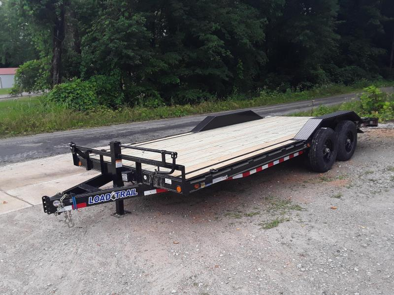 "2019 Load Trail 102"" X 20' Equipment Trailer W 2 7 K Axles and Drive Over Fenders"