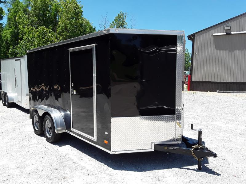 2018 Covered Wagon Trailers 7x14 Black Enclosed Cargo Trailer