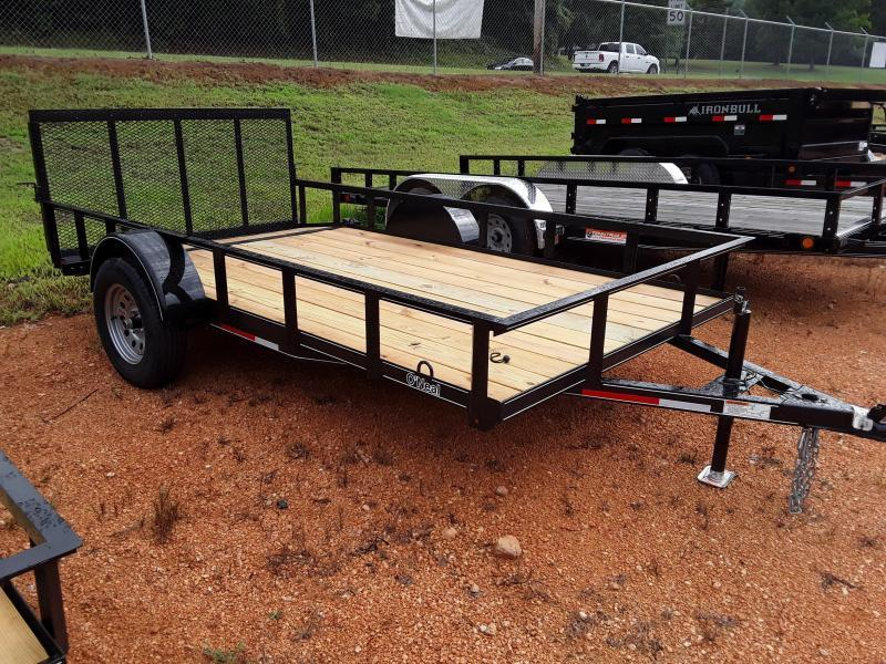 2018 O Neal 6 4 X 12' 3500 lb Axle 2 foot dove 3 foot gate Utility Trailer