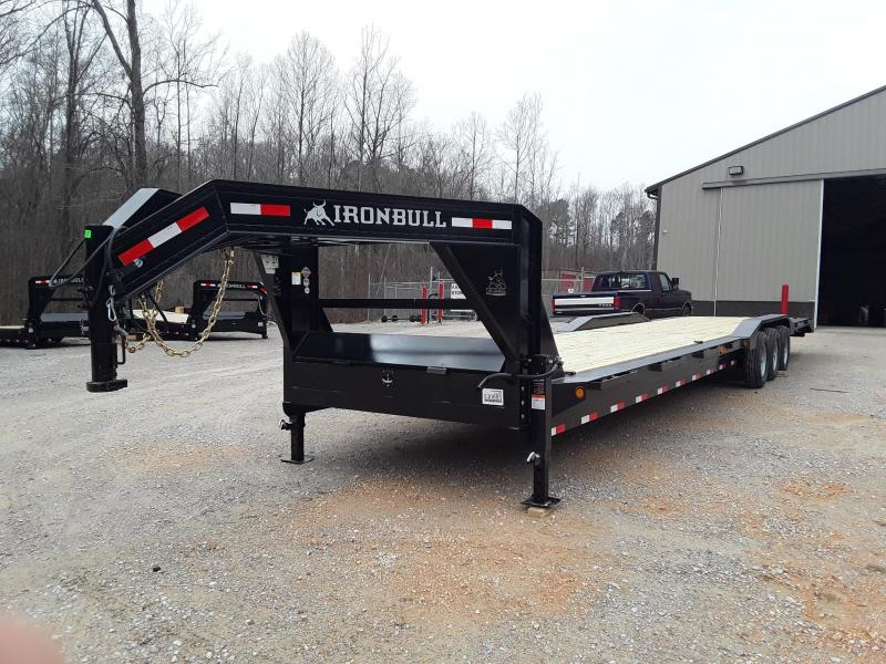 "2019 Iron Bull10"" CH FRAME 102"" X 40' 3-7000 LB AXLES  Flatbed Trailer"