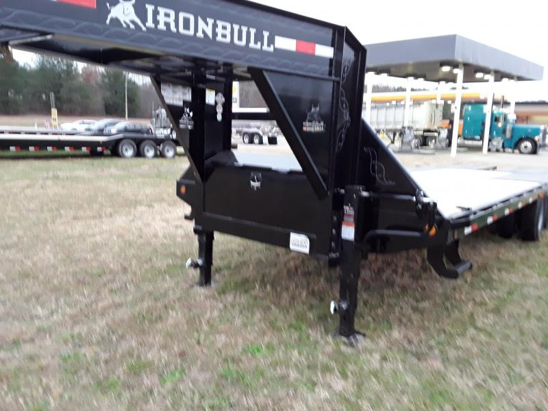"2019 Iron Bull 25' X 102""Flatbed Trailer W 2 10k Axles and Max Ramps"