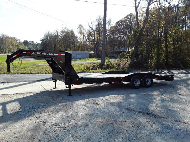 "2019 Iron Bull 102"" X 24' w 2 7k axles and Rampage RampsEquipment Trailer"