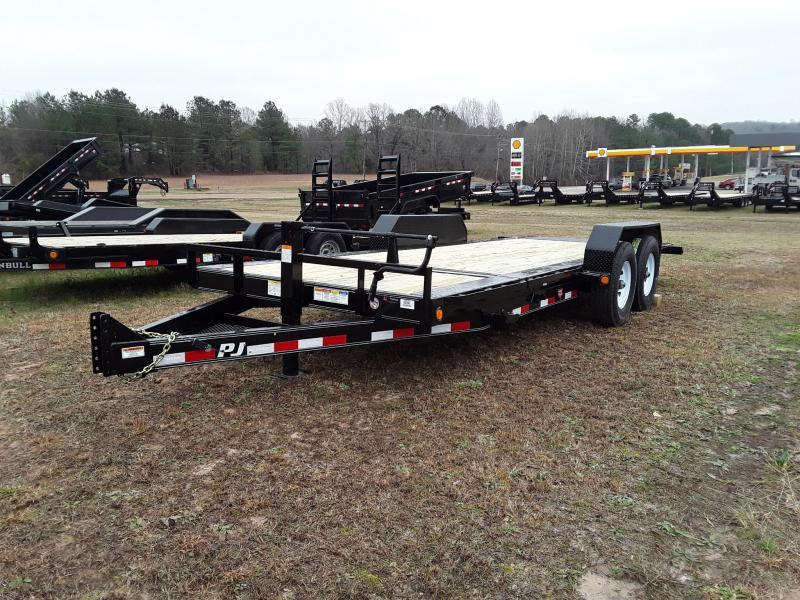 2019 PJ Trailers 22' HD Tilt Equipment Trailer W 2 8000 Lb Oil Bath Dexter Axles