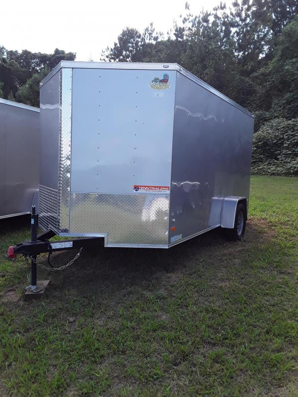 Covered Wagon 7 x 12 Single Axle 3500lb Silver