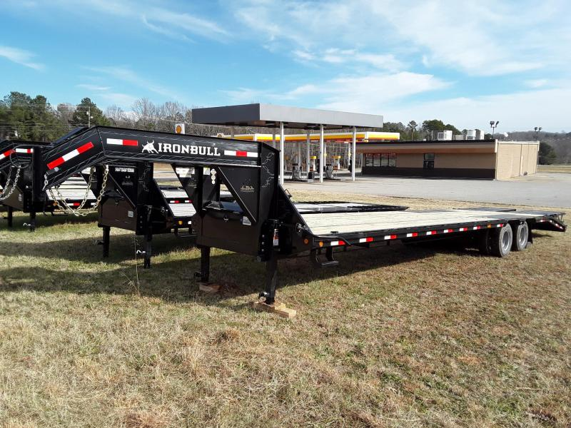 "2019 Iron Bull 102"" X 25' Flatbed W 2 10,000 Lb Axles and Rampage Ramps"