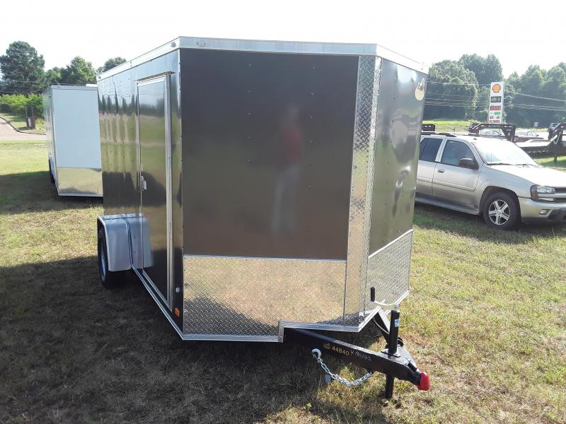 2018 Covered Wagon Trailers 7 X 12 Enclosed Single Axle Charcoal Enclosed Cargo Trailer