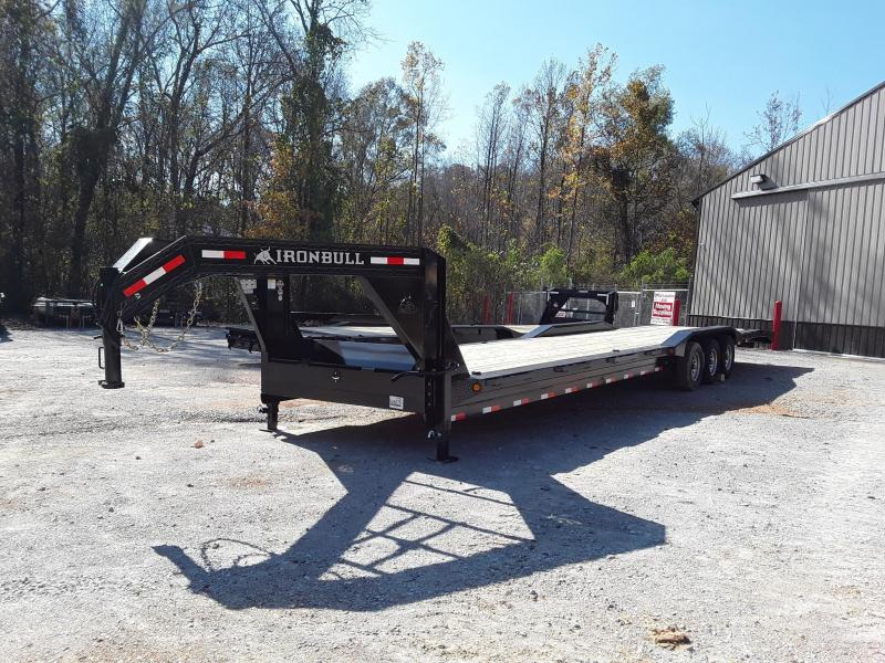 "2019 Iron Bull 10"" CH FRAME 102"" X 40'  Equipment Trailer w 3-7000 LB AXLES"