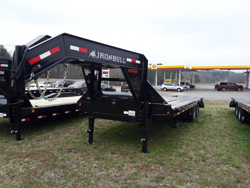 "2018 Iron Bull 102"" X 25 Low Pro Flatbed Trailer W/ 2 10000 lb Axles"