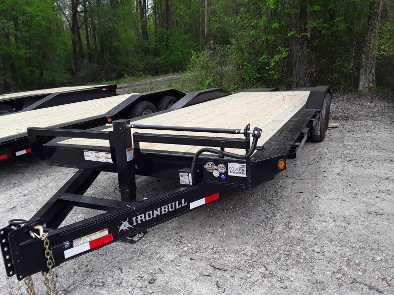 "2019 Iron Bull 102"" X 24  Equipment Trailer W/ 2 7000 Lb Axles and Max Ramps"