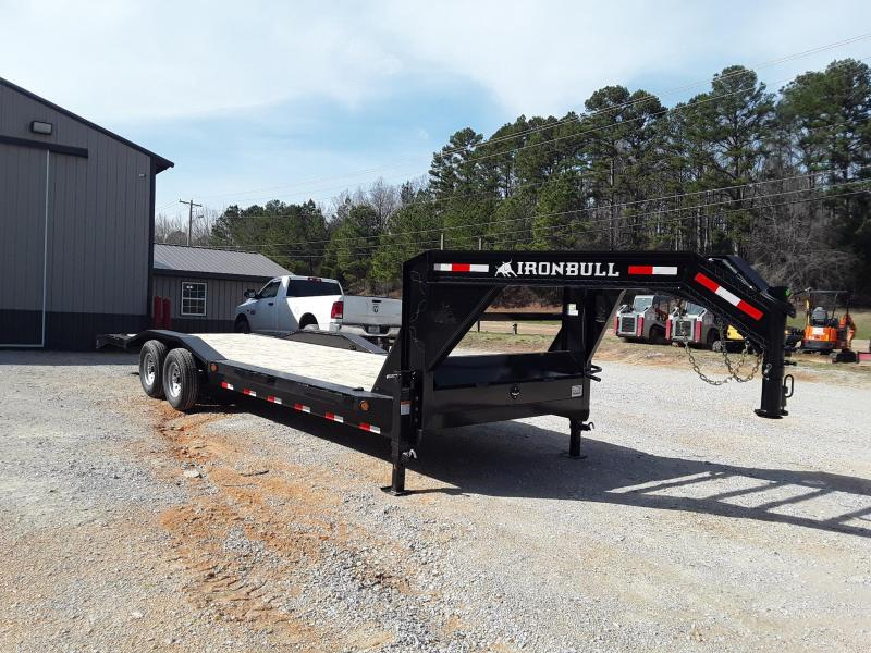 "2019 Iron Bull   8"" CH FRAME 102"" X 26' 2-7000 lb AXLES Flatbed Trailer"
