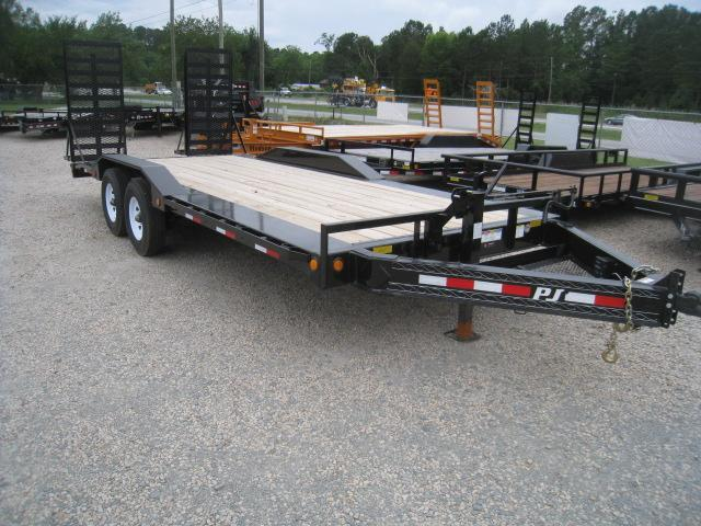 2020 PJ Trailers H6 Pro Beam Superwide 20' Equipment Trailer with Drive Over Fenders
