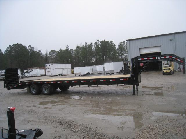 2019 PJ Trailers FD 30' Gooseneck Dual Tandem Deckover Equipment Trailer