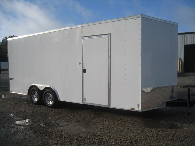 "2019 Pace American Journey 8.5x20 Vnose with 7'6"" Inside Car / Racing Trailer"