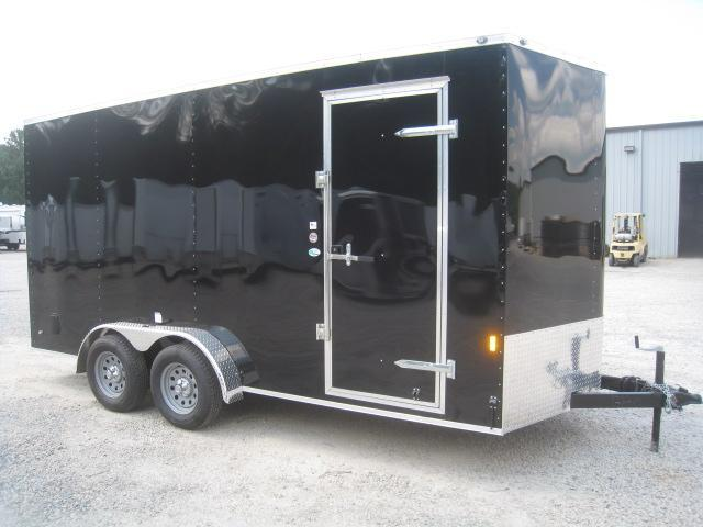 "2019 Continental Cargo Sunshine 7x16 Vnose with 12"" Extra Height"