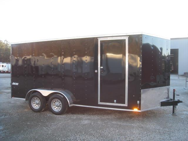 2019 Pace American Journey 7 x 16 Vnose Enclosed Cargo Trailer with Ramp Door