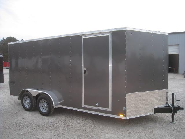 2019 Pace American Journey 7x16 Vnose Charcoal Enclosed Cargo Trailer