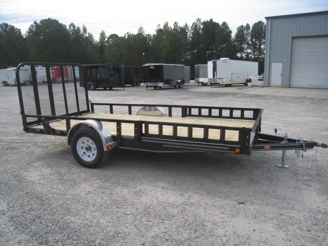 2019 PJ Trailers U8 83 x 14 Utility Trailer with ATV Ramps and Rear Gate