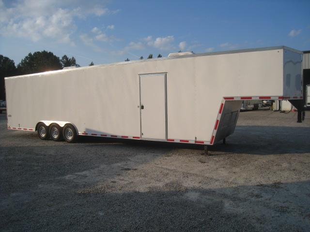 2018 Cargo Express Pro Flattop 40 Gooseneck Enclosed Cargo Trailer with Double Rear Doors