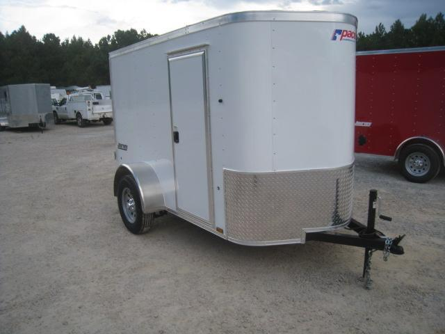 2019 Pace American Journey 5x8 Vnose Enclosed Cargo Trailer with Side Door and Ramp Door