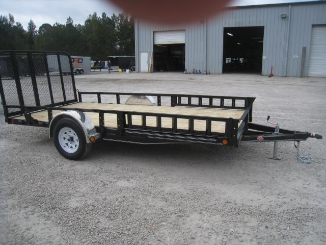 2019 PJ Trailers U8 83X14 Utility Trailer with ATV Ramps and Rear Gate