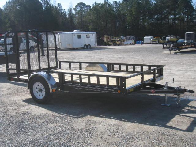 "2018 PJ Trailers U8 12'X83"" Utility Trailer with Rear Gate and ATV Ramps"