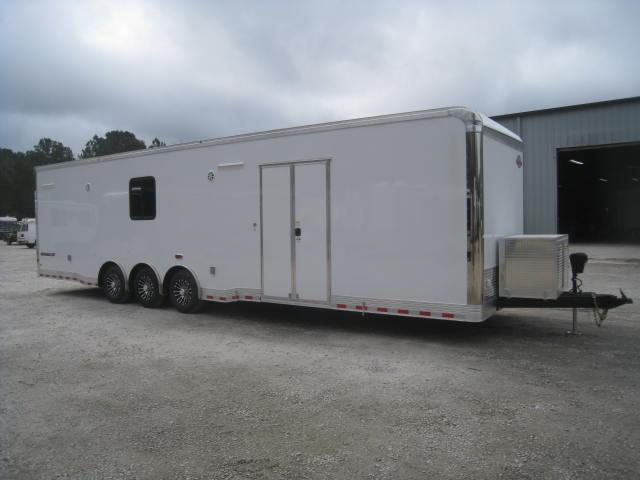 2018 Cargo Mate Eliminator 34' Car / Racing Trailer with Full Bathroom
